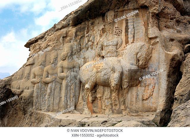 Reliefs of Sassanian kings 3th century, Naghsh-e rajab, near Persepolis, Fars province, Iran