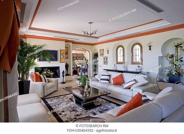 Mclundie Livingroom in apartment overlooking golf course
