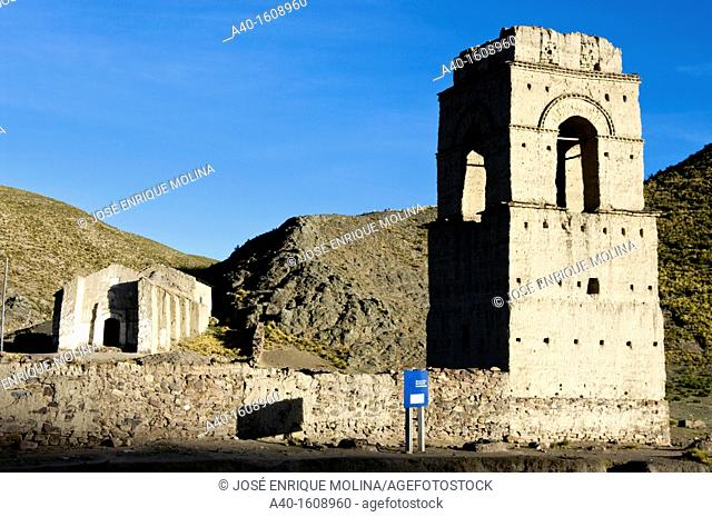 Bolivia. Oruro department. Ancient colonial church in Lequepalca