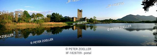 Ross Castle at Lough Leane in Killarney, Kerry, Ireland