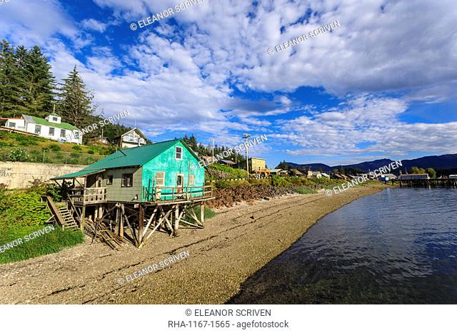 Hoonah, shoreline, Tlingit Community, Icy Strait Point, summer, Chichagof Island, Inside Passage, Southeast Alaska, United States of America, North America