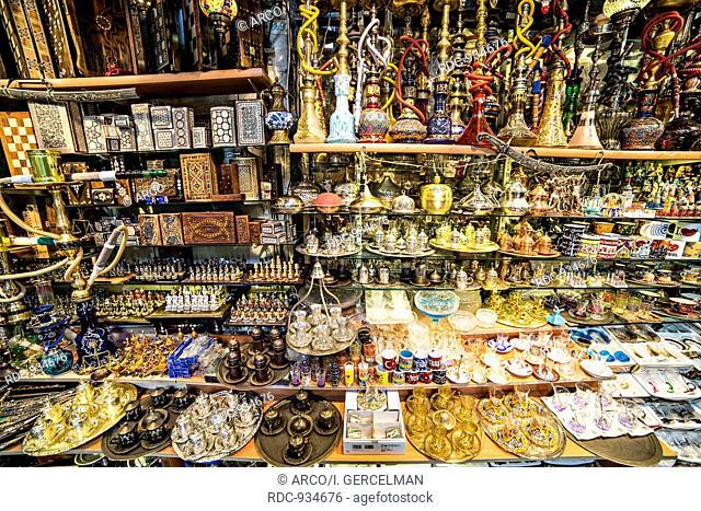 Souvenirs in Grand bazaar, Istanbul, Turkey