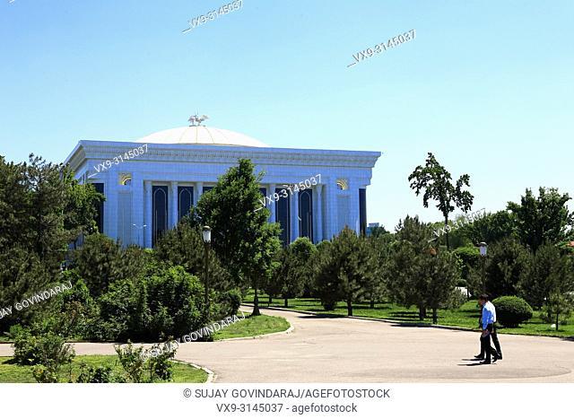 Tashkent, Uzbekistan - May 12, 2017: View of Palace of International Forums of Uzbekistan by Ippolito Fleitz Group