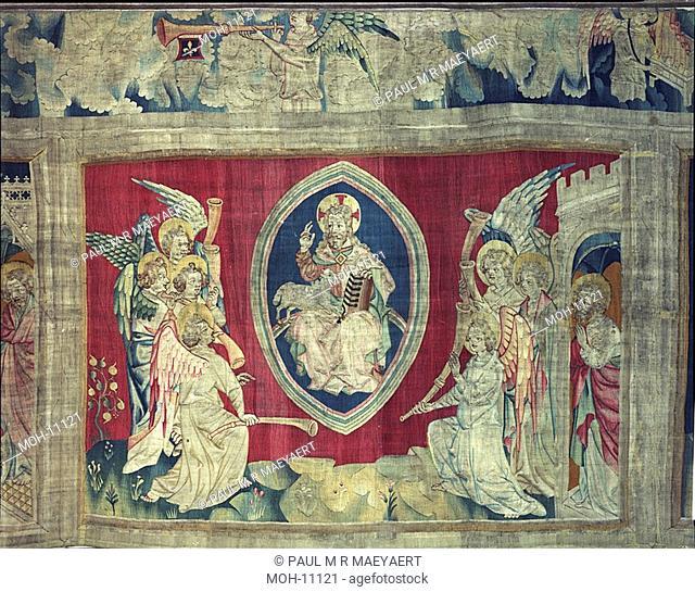 La Tenture de l'Apocalypse d'Angers, Septième sceau : les sept trompet-tes 1,58 x 2,32m, Das siebte Siegel: Die sieben Engel mit sieben Posaunen