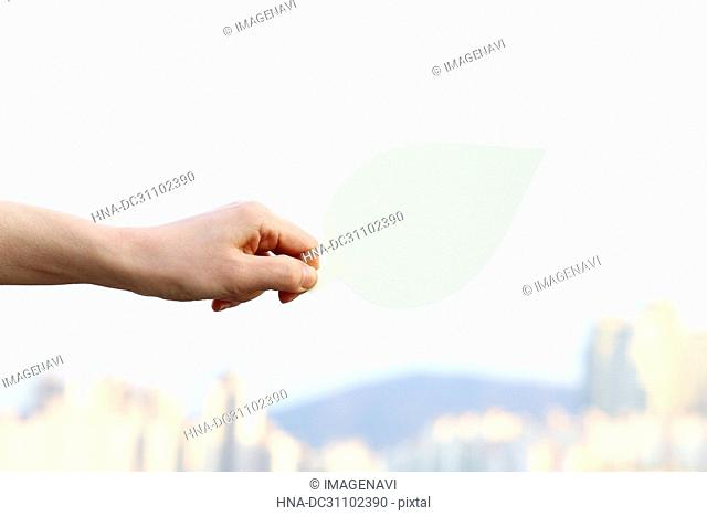 Woman Hand Holding Message Board