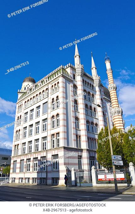 Yenidze, former tobacco factory, now office buildings, from 1909, Dresden, Saxony, Germany