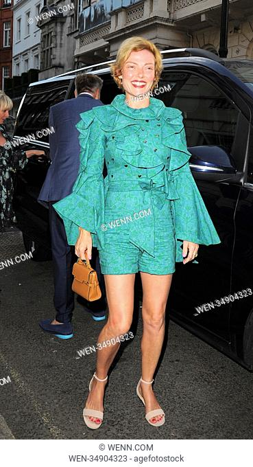Celebrities at Mark's Club in Mayfair Featuring: Camilla Rutherford Where: London, United Kingdom When: 11 Jul 2018 Credit: WENN.com