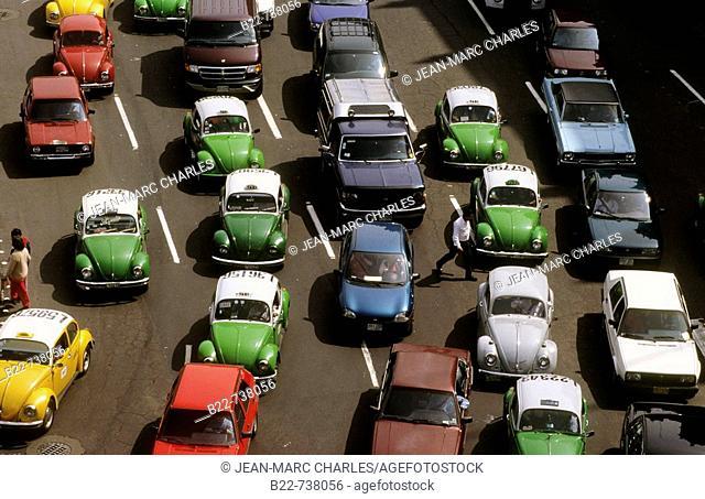 Traffic, Mexico City, Mexico