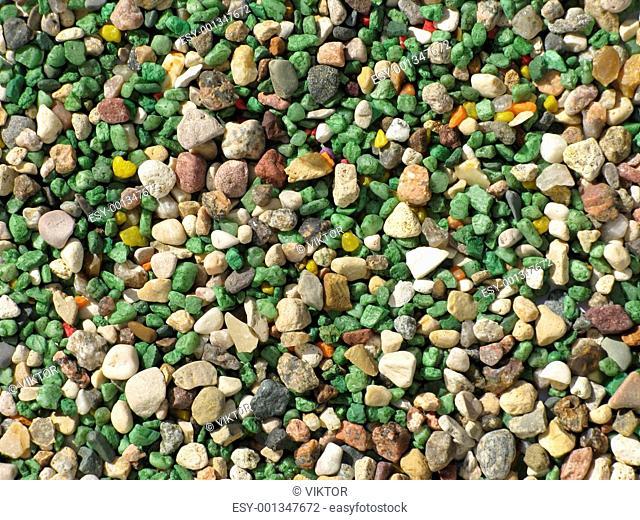 Color gravel background texture