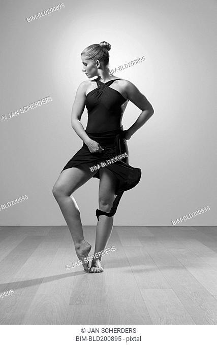 Graceful barefoot dancer