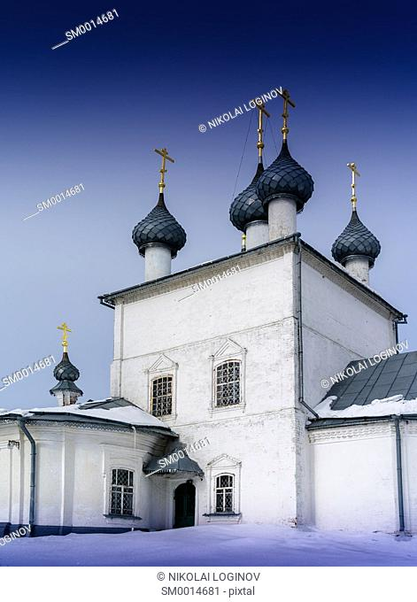 Russian beautiful grey church