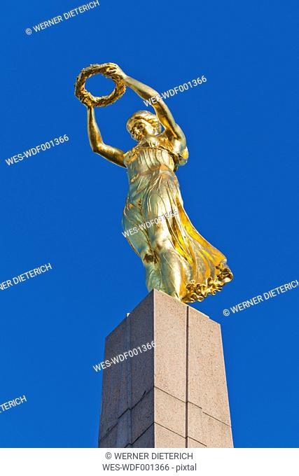 Luxembourg, Statue of Gelle Fra