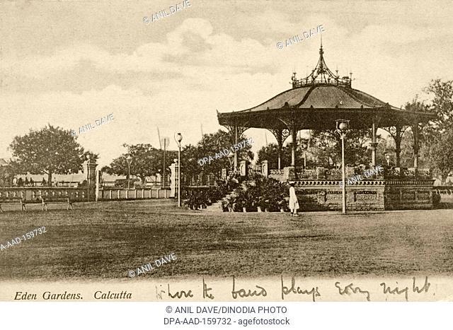 Old vintage 1900s Eden Gardens Bandstand, Calcutta, Kolkata, West Bengal, India, Asia