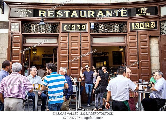 Casa Labra, Calle de Tetuan 12, since 1850. Madrid, Spain