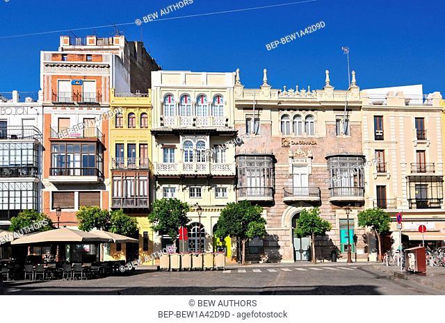 View of Plaza de San Francisco in Seville (Sevilla), Andalusia, Spain