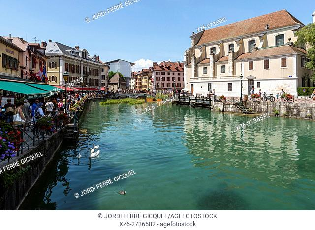 Touristic town of Annecy, administrative centre of the Haute Savoie, France, Europe