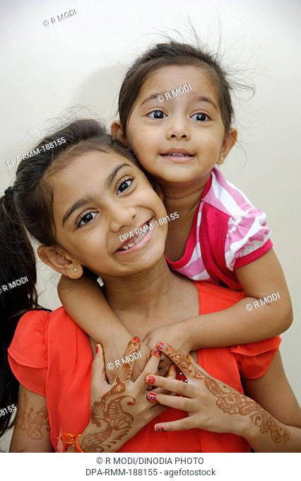 Indian Two Sisters loving Each Other MR#736L 736 LA