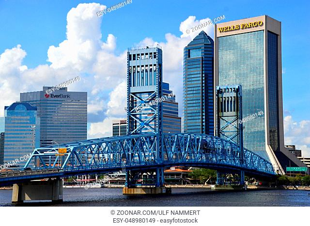 The City of Jacksonville, Florida, USA. Die Stadt Jacksonville, Florida, USA