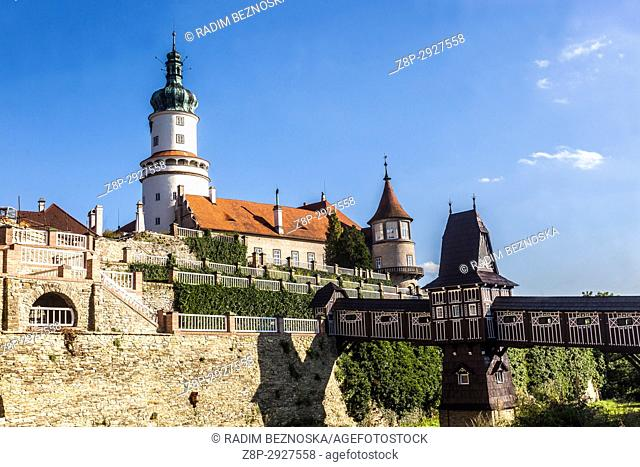 Nove Mesto Nad Metuji Castle, Czech Republic, garden