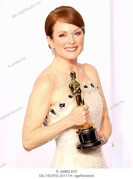 Julianne Moore, winner of the Best Actress in a Leading Role for STILL ALICE in the press room for The 87th Academy Awards Oscars 2015 - Press Room