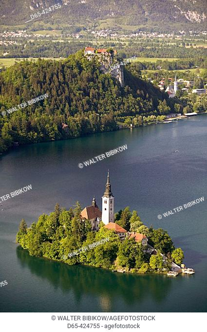 Lake Bled View from Mala Osojnica hill. Bled. Gorenjska. Slovenia