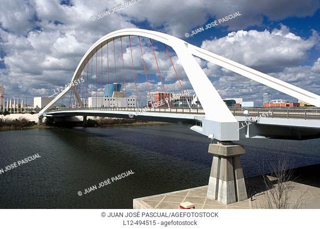 La Barqueta bridge, Sevilla. Andalusia, Spain