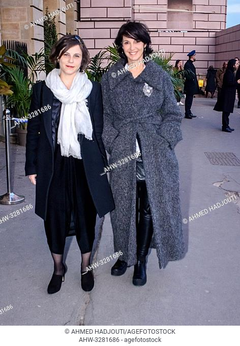 PARIS, FRANCE - April 12 : Actress Zabou Breitman attends the 'Diner du Cinema - Madame Figaro' event on April 12, 2019 in Paris, France