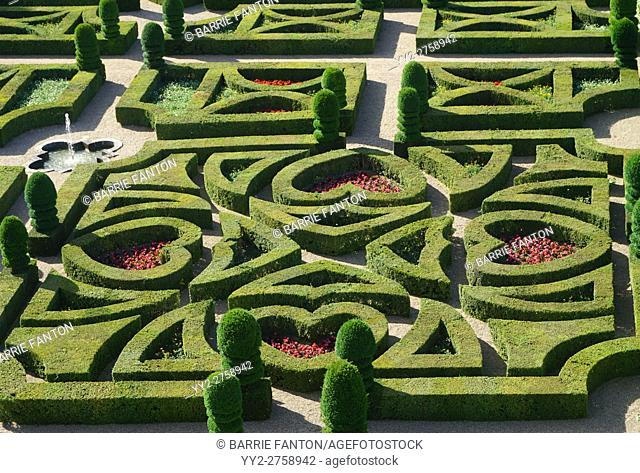 Formal Gardens at Château de Villandry, France