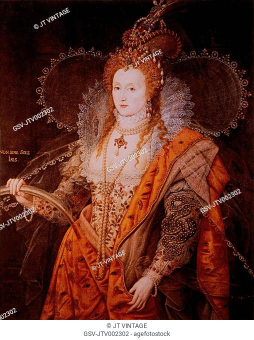 Elizabeth I (1533-1603), Queen of England, 1558-1603, Portrait Attributed to Isaac Oliver