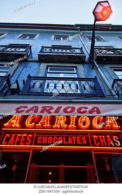 carioca coffee shop in lisbon. portugal