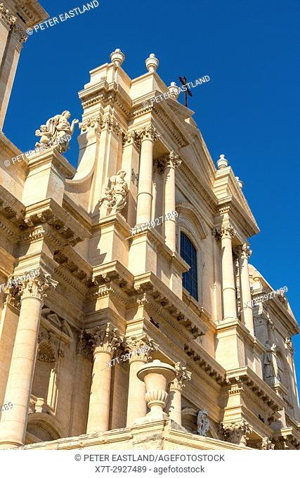 Facade of the baroque Duomo at Noto in south western Sicily, Italy