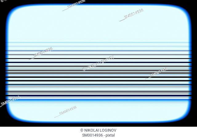 Horizontal tv blue interlaced signal lines illustration background