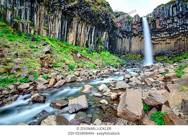 The Svartifoss with its basaltic columns in southe