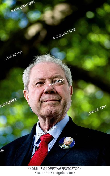 Scottish Politician and Former SNP deputy leader Jim Sillars appears at the Edinburgh International Book Festival
