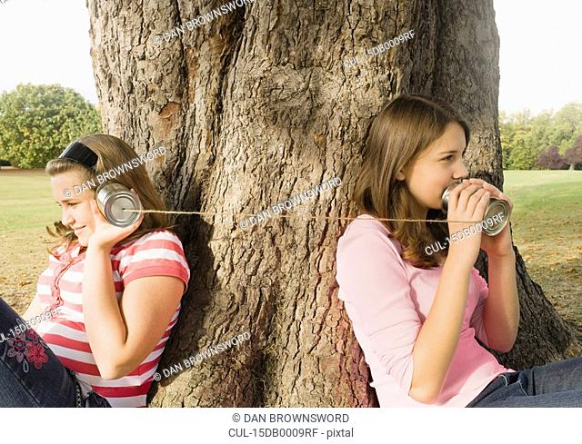 Kids with Tin Can Phones