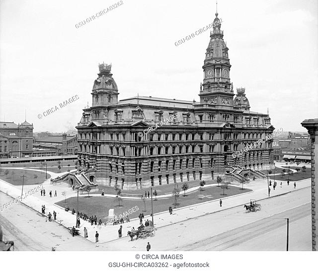 Marion County Court House, Indianapolis, Indiana, USA, Detroit Publishing Company, 1907