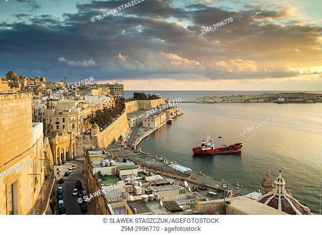Sunrise on Grand Harbour, Malta