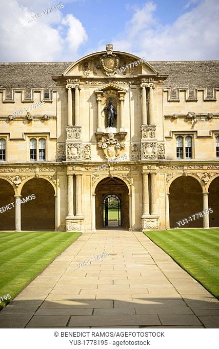 Quadrangle, St John's College, Oxford University, UK