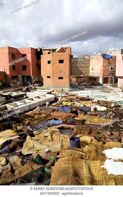 Morocco Marrakesh Arabic Tanneries