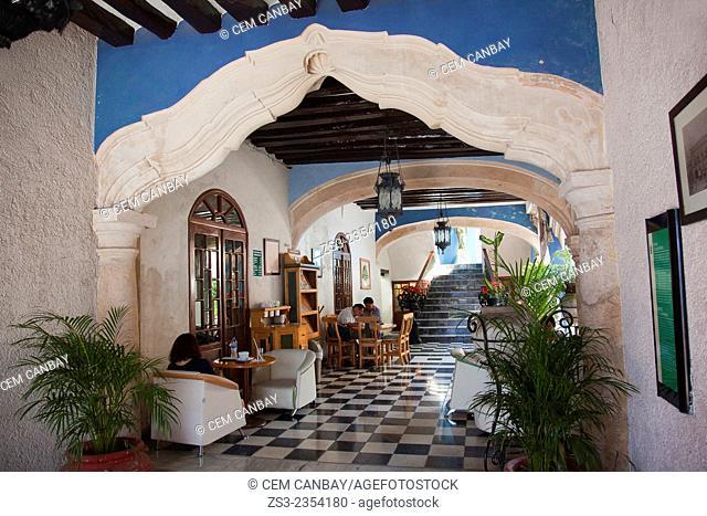 Cuauhtemoc building birthplace of Pedro Sainz de Baranda, Campeche, Yucatan Province, Mexico, Central America