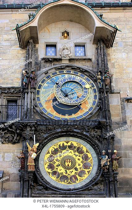 Czech Republic, Prague, Astronomical Clock on Old Town Hall