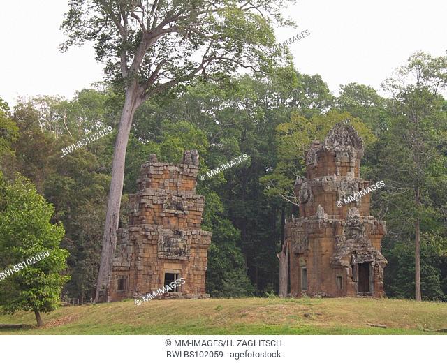 Khmer temple, Angkor Thom, palace, Cambodia