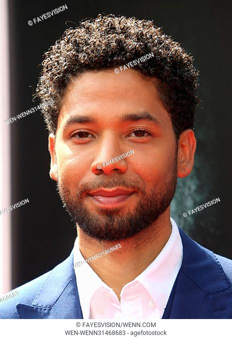 Sir Ridley Scott Hand and Footprint Ceremony Featuring: Jussie Smollett Where: Hollywood, California, United States When: 18 May 2017 Credit: FayesVision/WENN