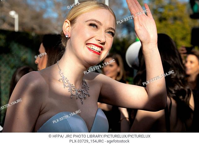 Dakota Fanning attends the 76th Annual Golden Globe Awards at the Beverly Hilton in Beverly Hills, CA on Sunday, January 6, 2019