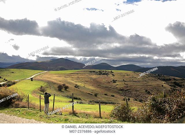 Demanda mountain range landscapes, Pazuengos fields, Oja valley, Rioja wine region, Spain