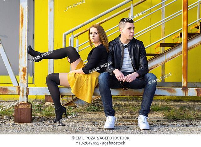 Teenagers girl and boy