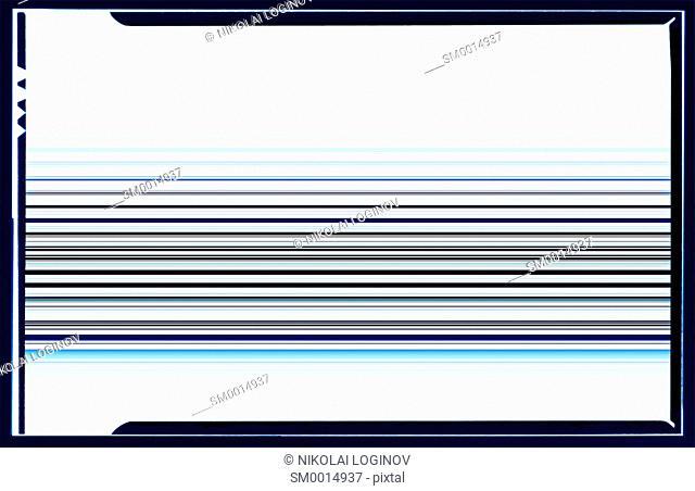 Horizontal blue film scan lines illustration background