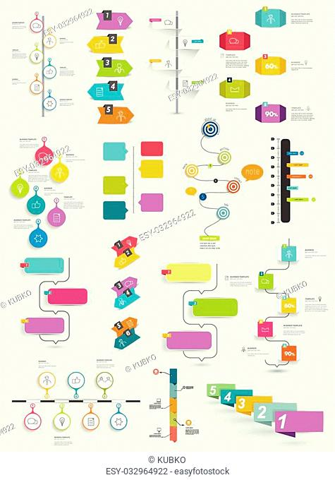 Big collection of timeline template. infographic