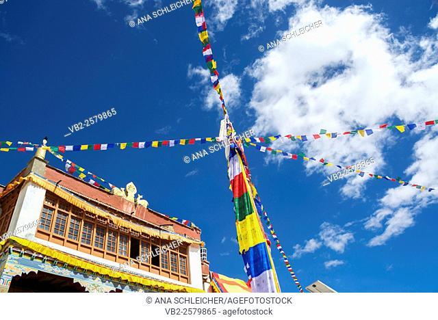 Korzok gompa. Nomad summer festival in Tso Moriri lake, Ladakh (India)