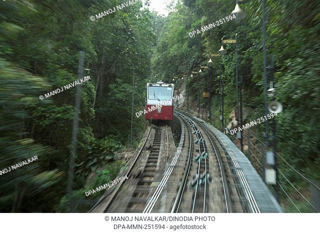 Mini train at penang hill, bukit bendera, penang, malaysia, asia